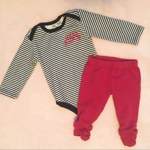 Guess onesie and Kushies leggings